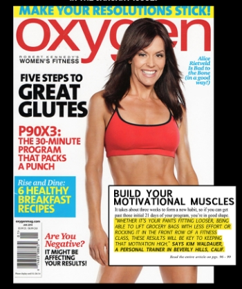 Oxygen Magazine, January 2014
