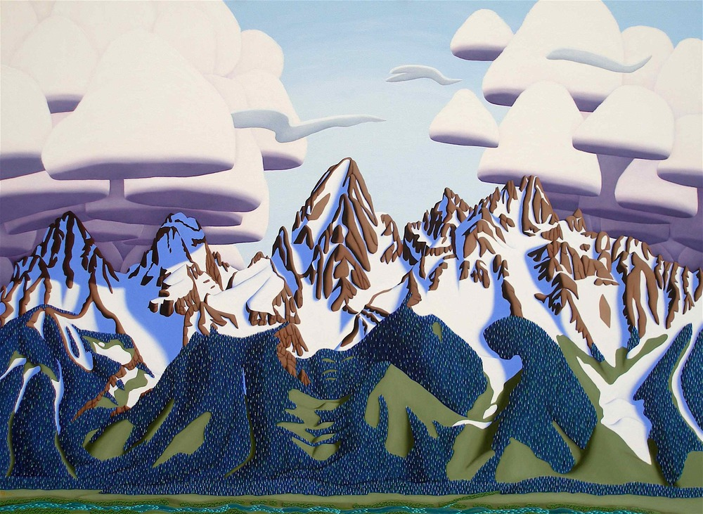 "Grand Tetons | Oil on panel | 36"" x 48"""