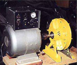 4KW generator (left) coupled to turbine