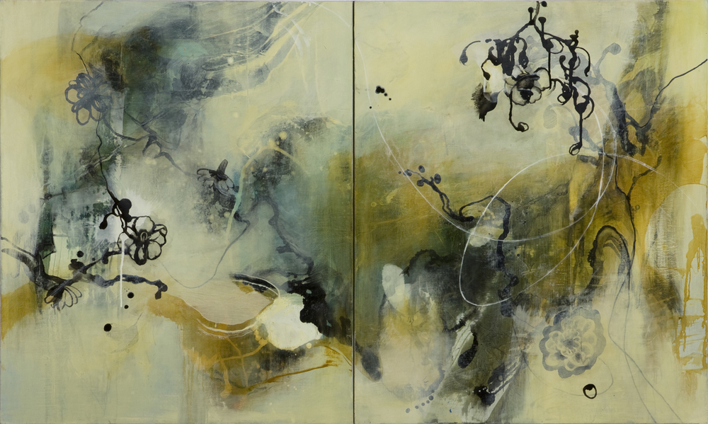 Untitled III  sold   2008 Oil on canvas, 40 x 60 inches (diptych)