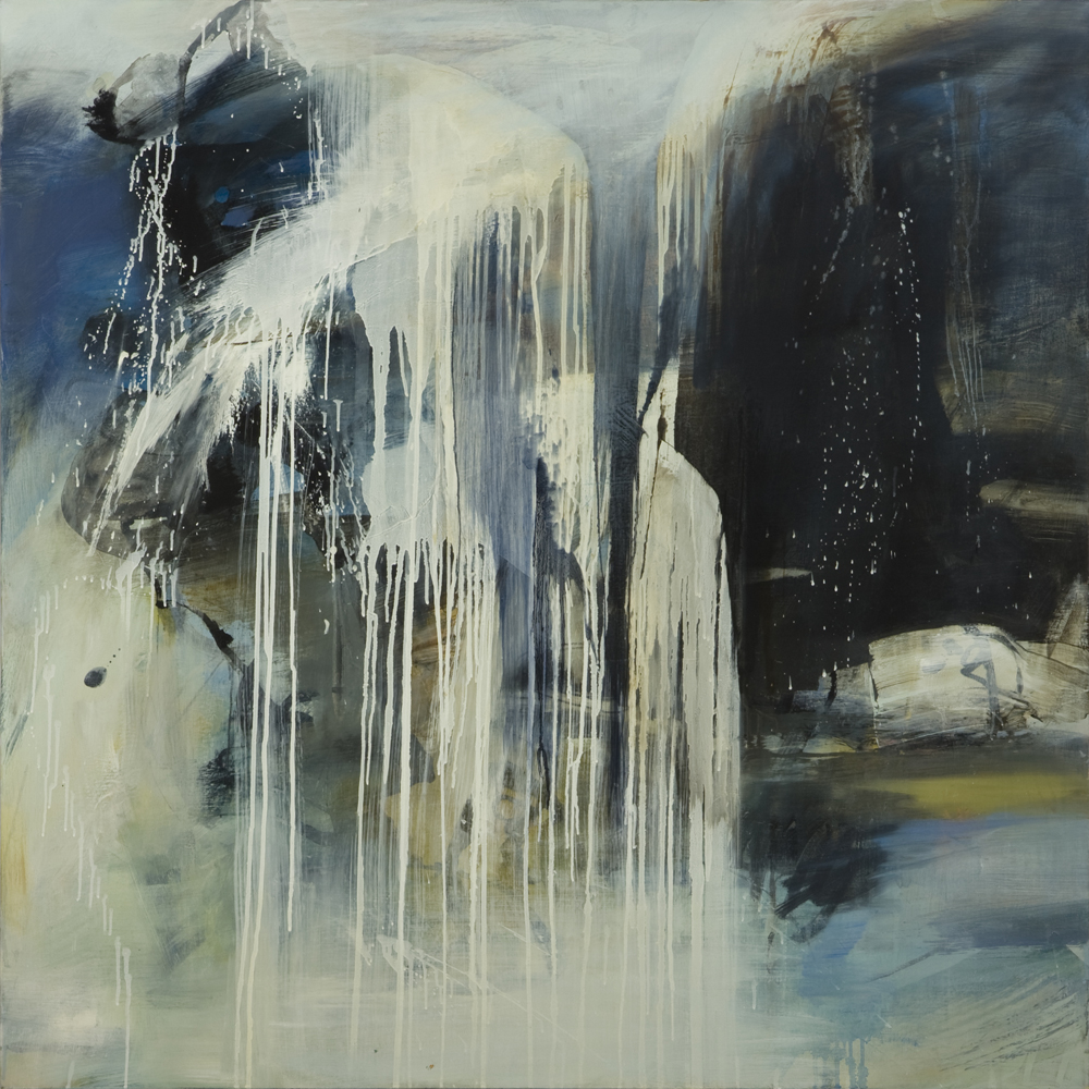 NEVER ENDING WATERFALL AFTER PAT STEIR  2008 Oil on canvas