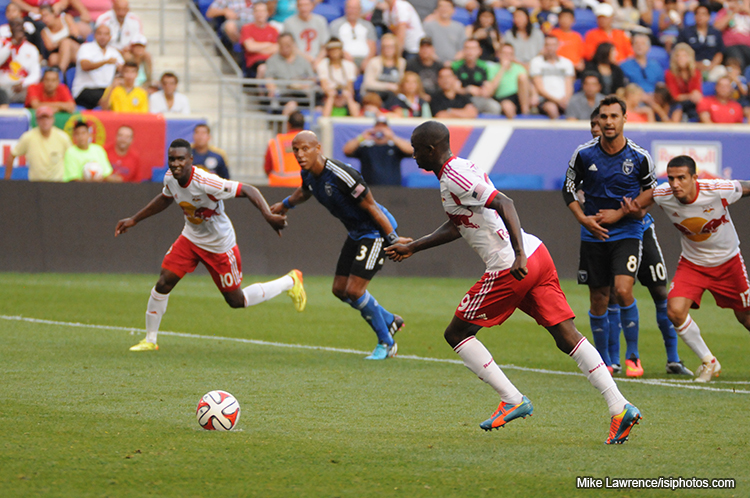 Bradley Wright-Phillips scoring on the resulting penalty kick