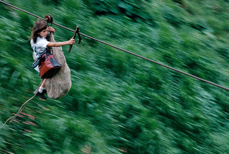 Kids Flying 800m On A Steel Cable 400m Above The Rio Negro River, Colombia