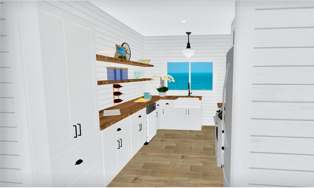 Beach Bungalow Kitchen
