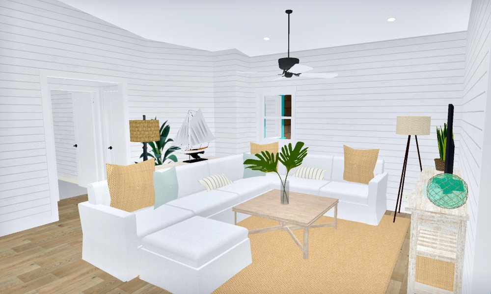 Beach Bungalow Living Room