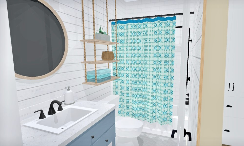 Beach Bungalow Bathroom