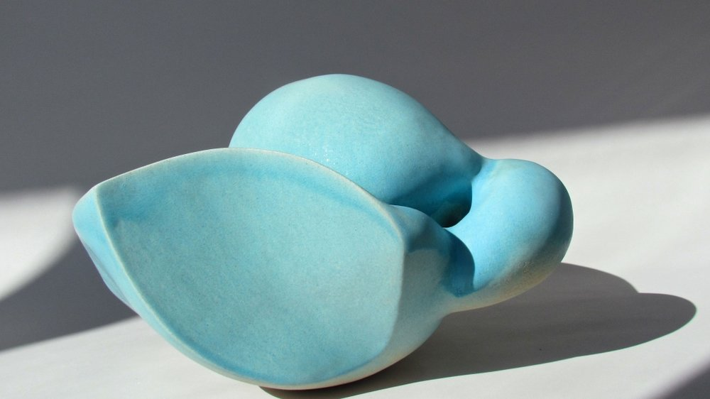 going out and going in again: blue, ceramic, 2015