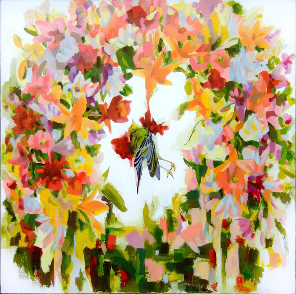 Dead Bird w/Flowers III