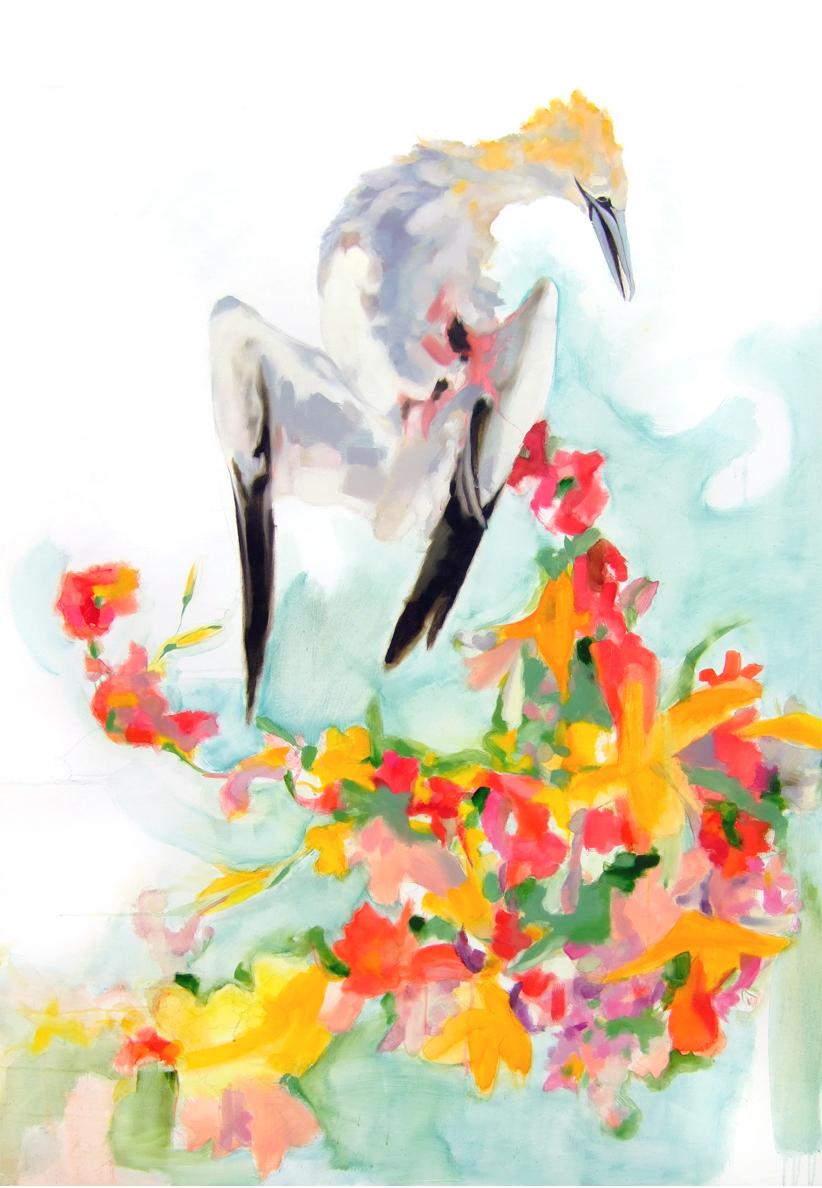 Dead Bird w/Flowers V
