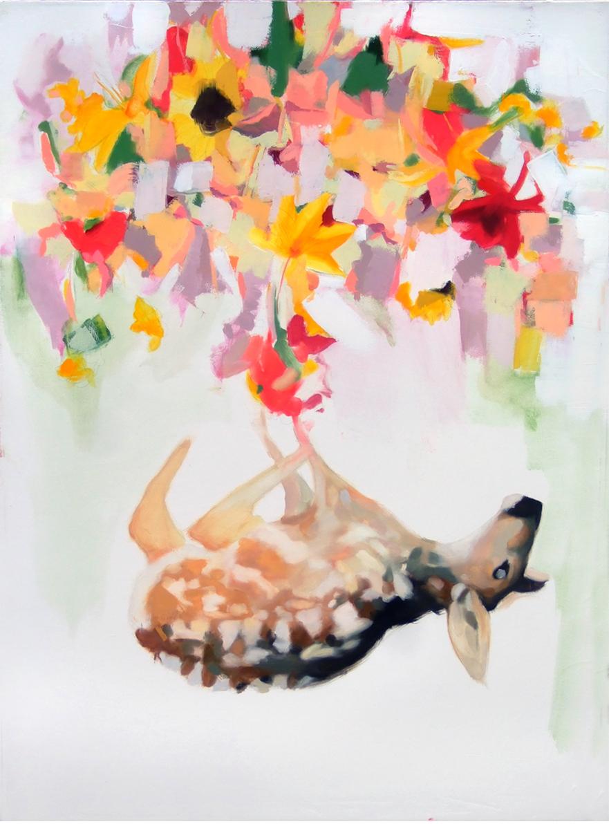 Dead Fawn w/Flowers