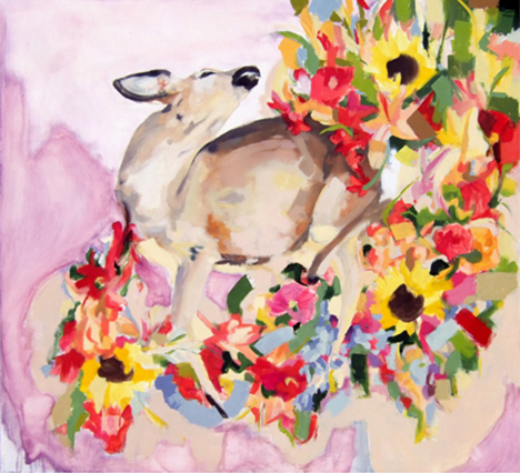 Dead Deer w/Flowers IV