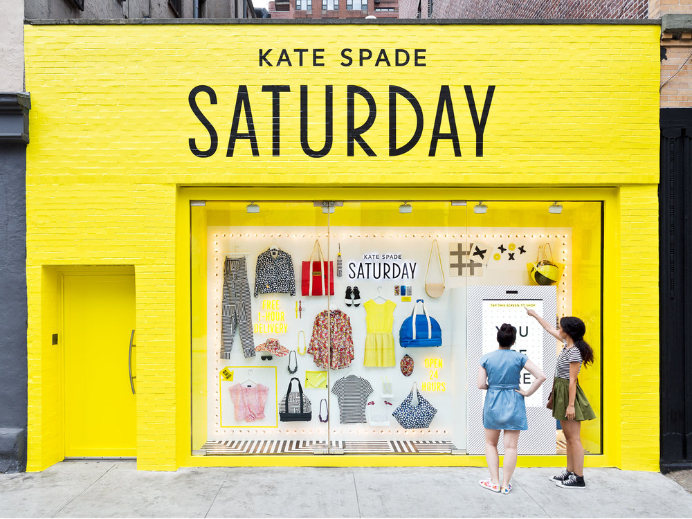 Kate Spade Saturday 24-Hour Window Shops