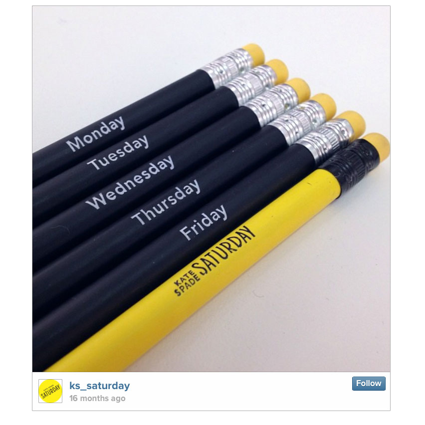 Kate Spade Saturday Pencils