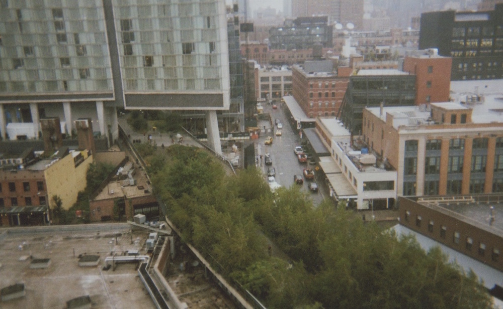 View of the High Line from the Whitney Museum...