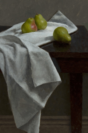 "STILL LIFE WITH PEARS  18"" x 12"" - Oil on Linen"