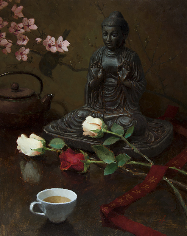 "OFFERINGS TO THE BUDDHA   20"" x 16"" - Oil on Linen"