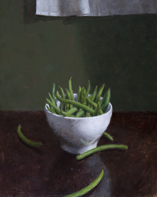 "STRING BEANS  16"" x 13"" - Oil on Linen"