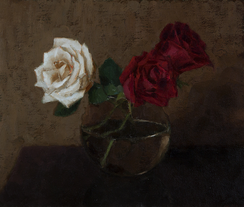 "ROSES IN VASE  10"" x 12"" - Oil on Linen"