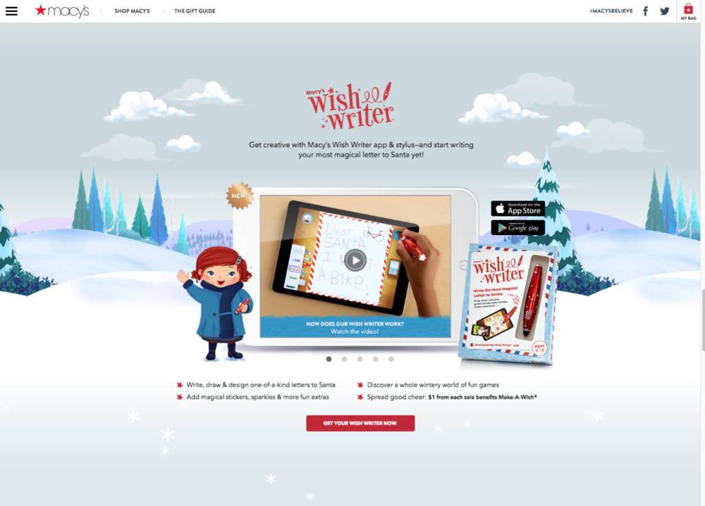 the story continues digitally with a santa letter writing app where we invited people to write their own magical list the app also includes 12 activities