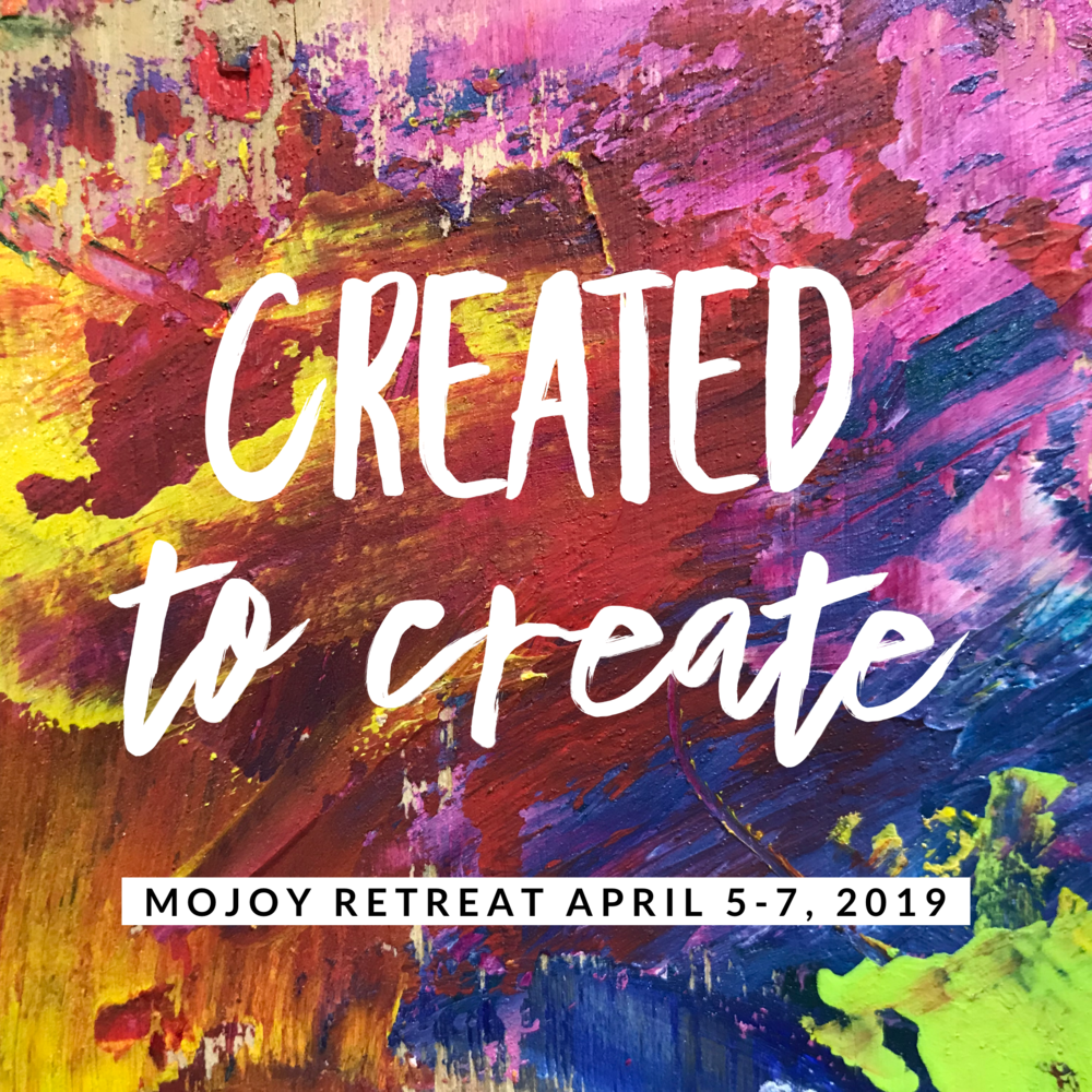 "It's TIME!    13 years of hosting retreats and still not one has ever been duplicated!    The Created to Create retreat has as its purpose to remind you of just that… we were designed in the image of The Creator, and so, it is our divine inheritance to create as well. To anyone who says, ""But I am just not creative"", I call BS!    You ARE creative!! The outfit you are wearing now… you created that. You saw it in your mind's eye, then you made it manifest in reality. The way you have decorated your den at home… again… all began as imagination, and showed up in its physical form once you decided to take action on it! And so it goes. It is my desire to have each participant who attends this retreat realize that they are INDEED creative and at the conclusion of the three days together, that will include with paint and paper!    Mostly, this is about a weekend away with like-minded friends who are all ready to let loose, play, laugh, and explore!    The primary substrate we will be working with this time is the art journal. We will be making a complete and total mess with paint, scraps of paper, and tidbits of ephemera We will be learning to use new tools. You can decide if you'd like to work in photos, quotes, poems, or whatever else feeds your soul! There are a lot of lessons to be learned with this style, and for sure our conversations will be around imagination, intuition, and inspiration…. a few of my favorite topics!    A second project is using gelli plates to create interesting papers to use in our journals as well as a background for a mixed media canvas. You will have the option of creating it in a 3-dimensional style, and you can also choose your foreground subject matter. I will supply ideas for inspiration.    For many of you, it will be your first time to see the new and improved studio! There are art supplies EVERYWHERE! You will be able to ""PLAY"" with lots of materials that may be new to some of you. Won't it be interesting to contemplate the thoughts and limiting beliefs that will surface when you are doing something new or that you perceive as ""difficult"". We will use the painting process to expose hidden paradigms that might be creeping along and preventing you from the life you desire.    I look forward to your being a part of this exciting weekend. Space is limited to the first 15 to sign up. And of those, I will only be able to house the first 8. So, if staying at my house is of interest to you, please see the details of what is included with that in the details below.    I can't wait to see all of you!    Melanie"