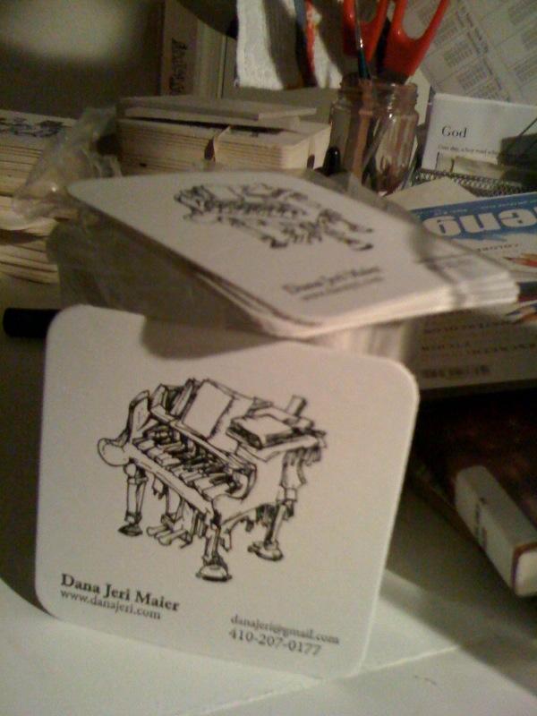 Coaster business cards - Dana Jeri Maier