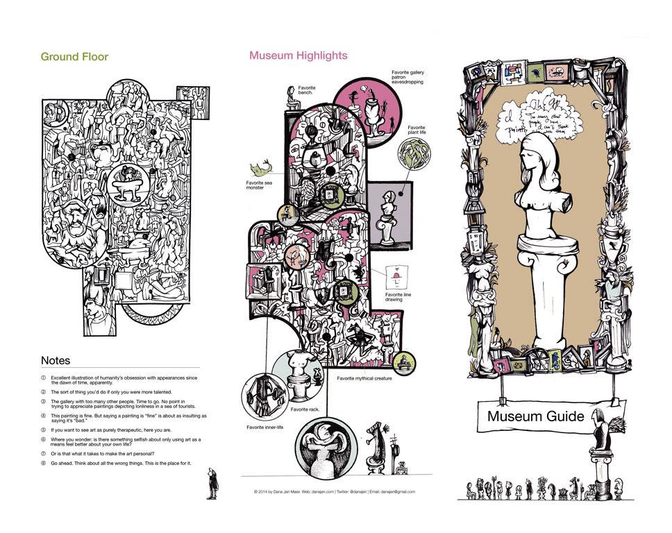 Hand-drawn Museum Guide - Dana Jeri Maier
