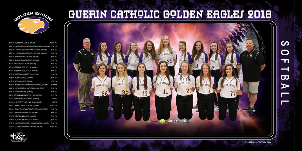 Custom banner design for one of our accounts.  Guerin Catholic Golden Eagles
