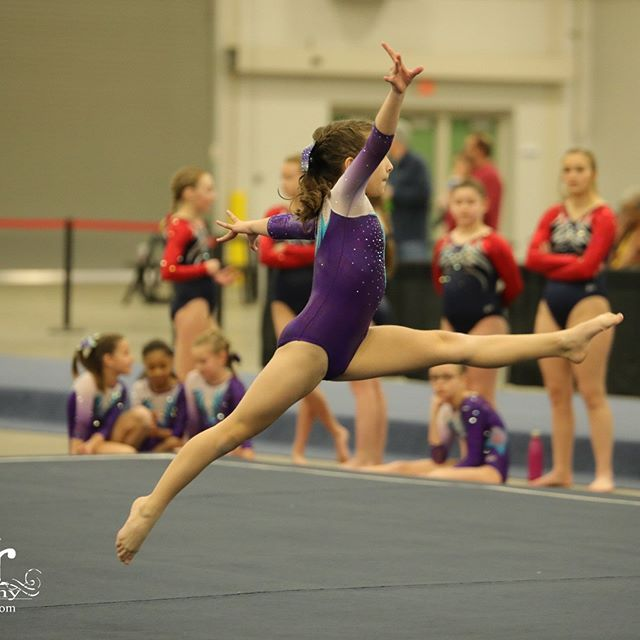 Megan competing for Kokomo Flipsters at the state fairgrounds.  #flipsters #gymnastics #prouddad
