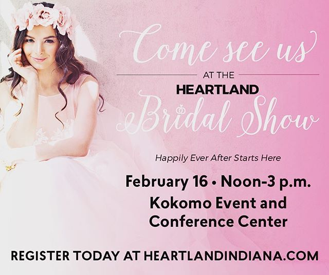 Come see us February 16 at The Kokomo Event Center #heartlandmagazine #weddingplanning #kokomoweddings #weddingphotography
