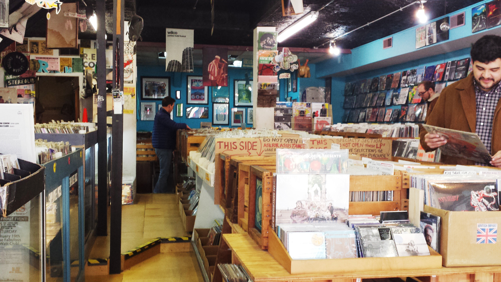 """Ordinary"" Wuxtry Records located downstairs."