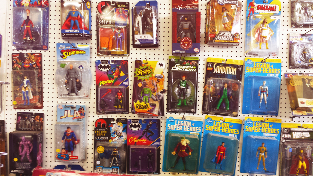 The store is full of  old-school and classic toys, collectibles, and board games