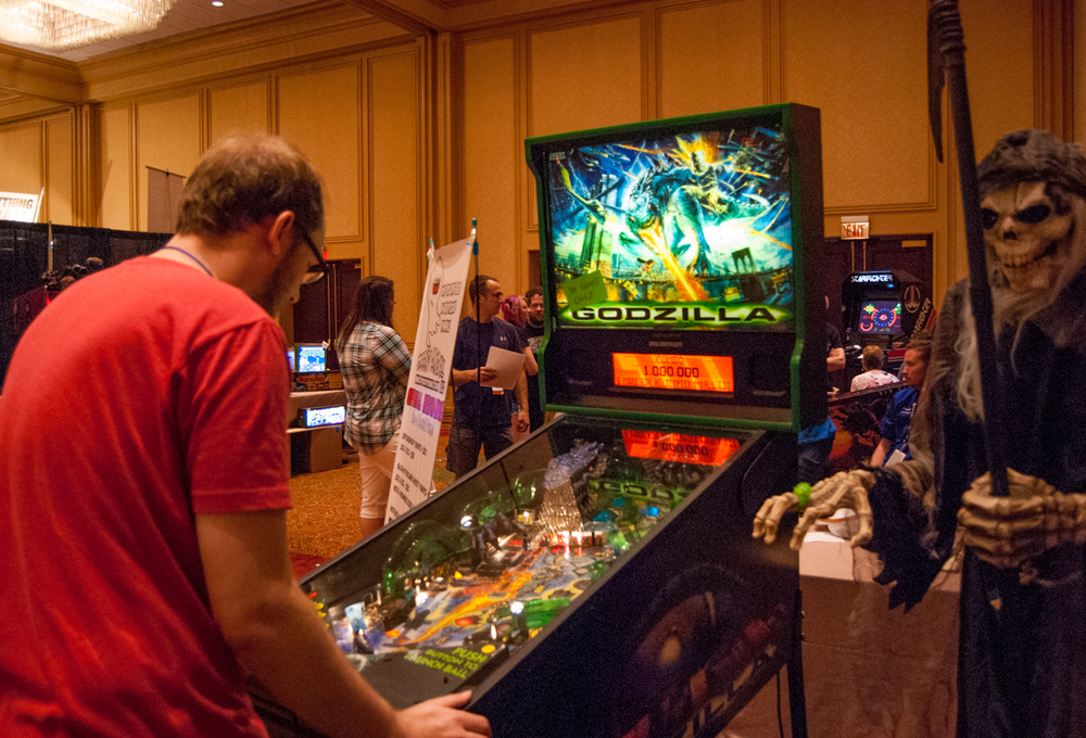southern fried gameroom expo godzilla pinball