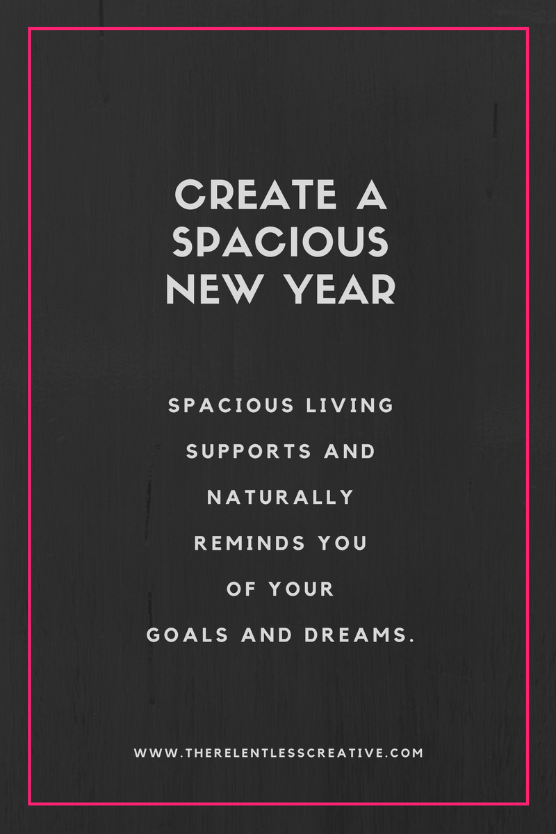 Create a spacious new year