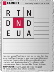 Letter Word Puzzle Sydney Morning Herald