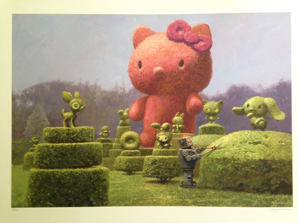 Hello Kitty Topiary Art, Eric Joyner