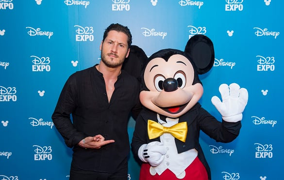 Val Chmerkovskiy and Mickey Mouse. Photo from a DWTS blog.