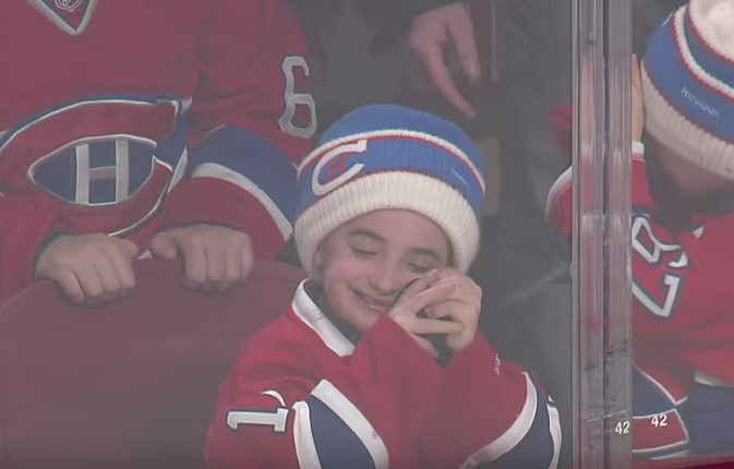 Montreal Canadiens fan's little delight
