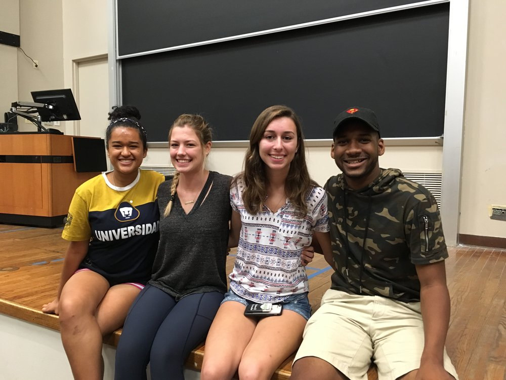 Cyn city students in 2016, these amazing cherubs enrolled at medill and returned to the MNJI program in 2018 to be community associates. and here they all are, teaching online reporting. i am a proud journalism instructor! from left: marissa martinez, Amanda rooker, gabby birenbaum, and andrew golden. photo taken at fisk hall, evanston, illinois, july 26, 2018.