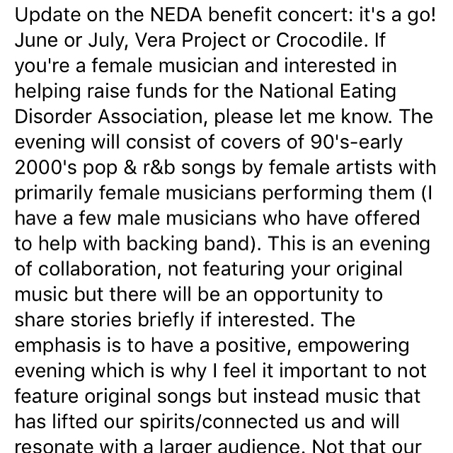 Calling #seattlemusicians! Event for @neda I'm putting together.
