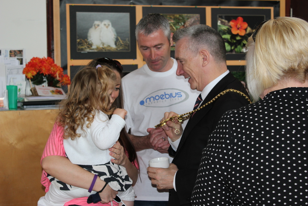 The Lord Mayor of Liverpool Gary Millar meeting the Seddon Family