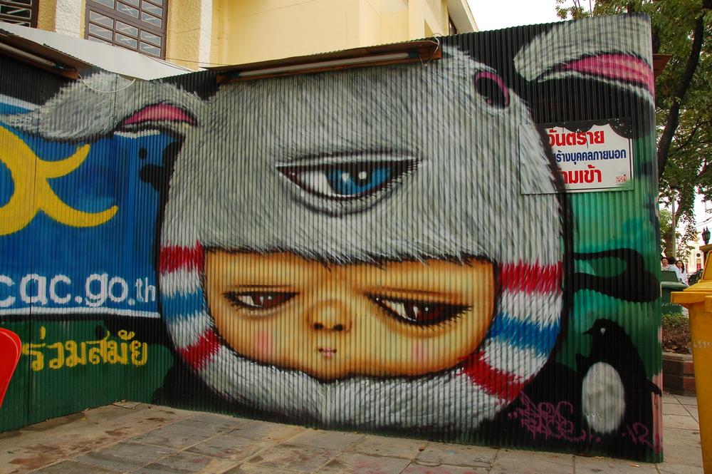 Graffiti on the streets of Bangkok