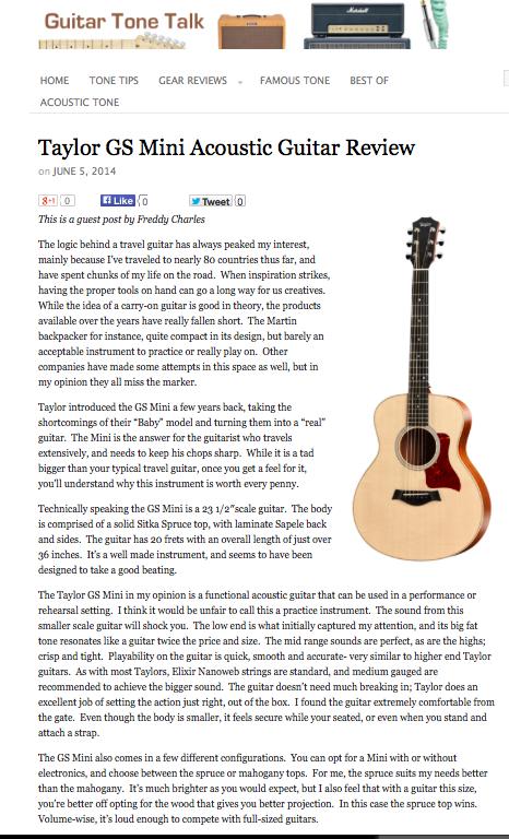 Guest Post in Guitartonetalk.com June 2013