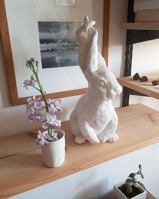 C'est bientôt Pâques. On vous prépare une petite surprise! 🐇 🎉 🌹 Little surprise for Easter coming this week! . . . . #jaimeleslapins #rabbit #pâques #easter #lapins #suprises #shoplocal #achatlocal #ceramics #sculpture #ceramique
