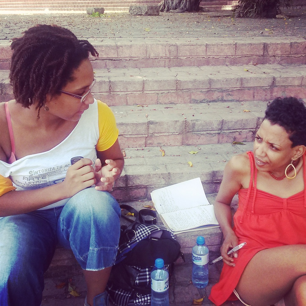 Interviewing on the ground. Lauraciely's explains her experience as a Dominican in relationship to hair, identity, & growing up in a border town with Haitians.