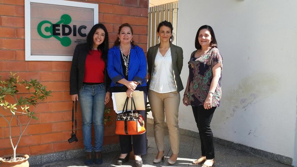 Alejandra Vera de la UA, Cesia Villalba del Senepa, Lilian Chamas y Antonieta Rojas de Arias