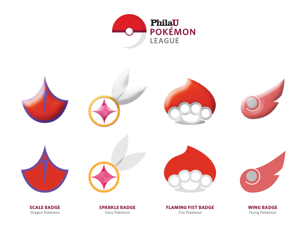 PhilaU Pokémon League Badges