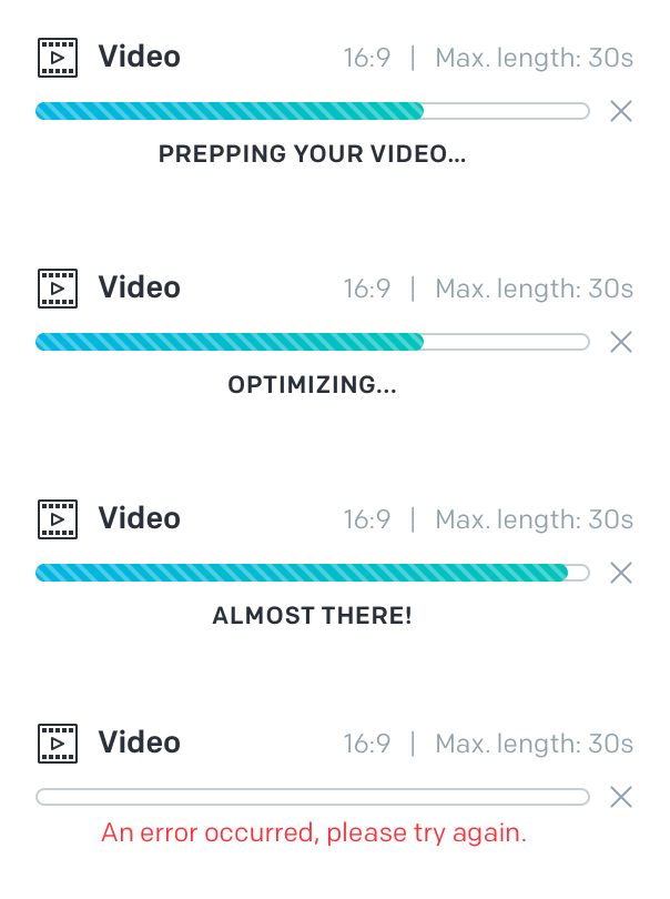 Messaging on the progress bar