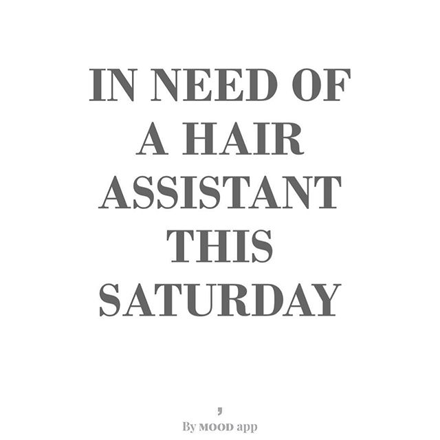 Need a hair assistant this Saturday morning in Bastrop. DM for more info. #austinhairstylist #austinhair #texashairstylist #weddinghair