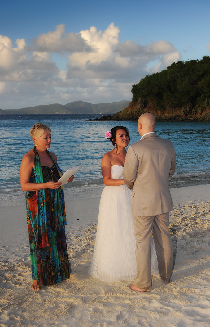 private intimate ceremony on Trunk Bay, St John, USVI
