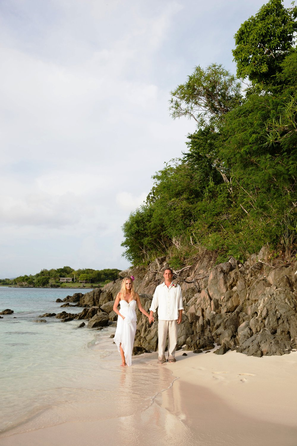 romantic elopement on St John USVI